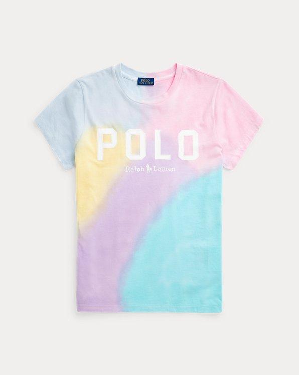Maglietta jersey tie-dye con logo