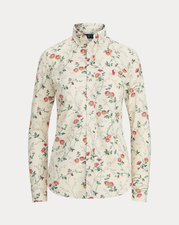 Floral Cotton Oxford Shirt