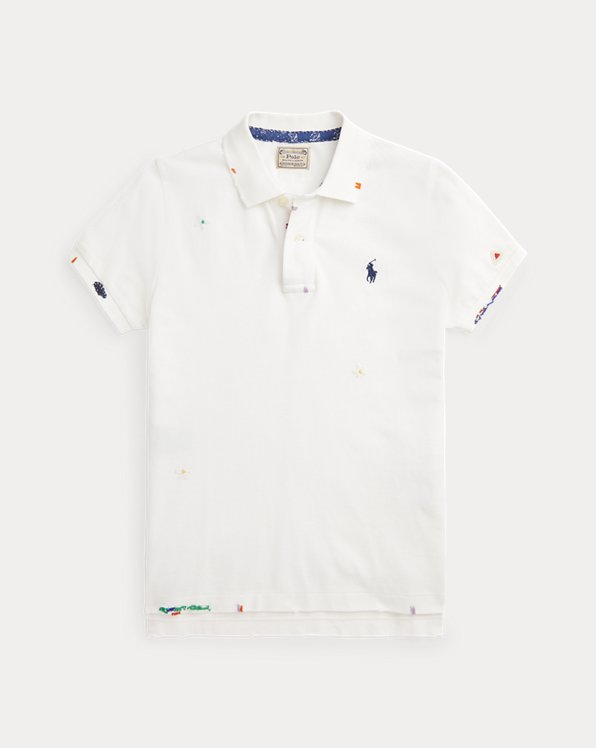 Skinny Fit Beaded Polo Shirt