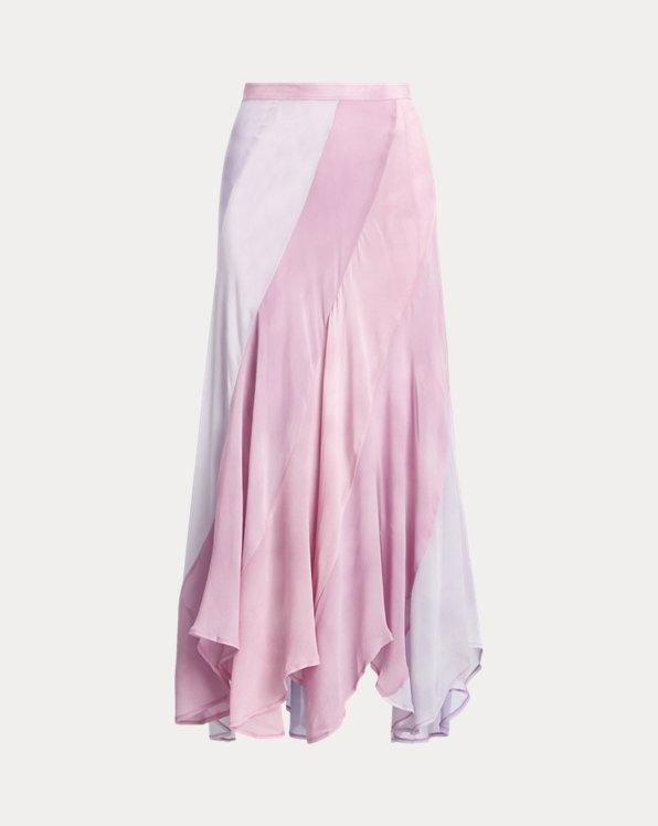 Tie-Dye Silk Skirt