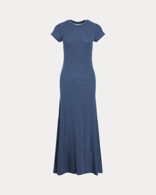 Cap-Sleeve Henley Dress