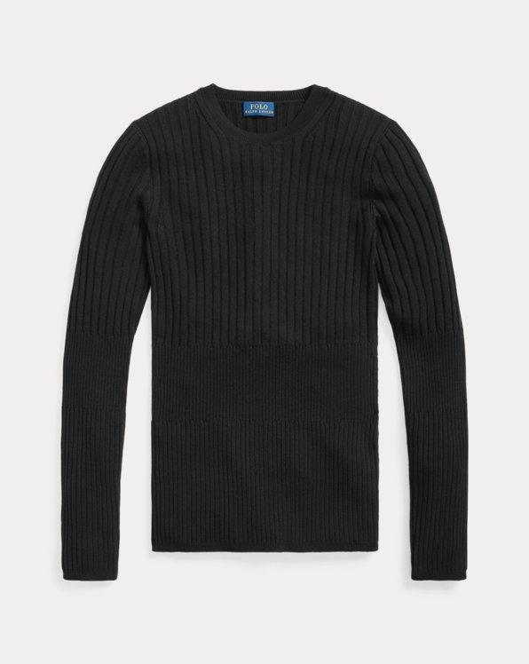 Ribbed Wool Crewneck Sweater