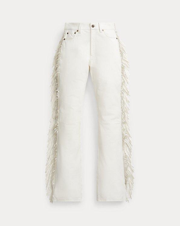 Fringe Leather Pant