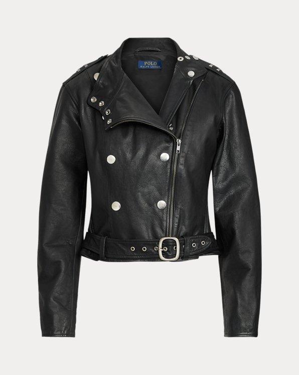 Belted Calfskin Jacket