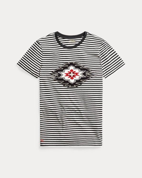 Baumwoll-T-Shirt mit Perlen