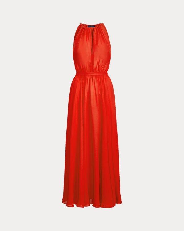 Crepe Halter Dress