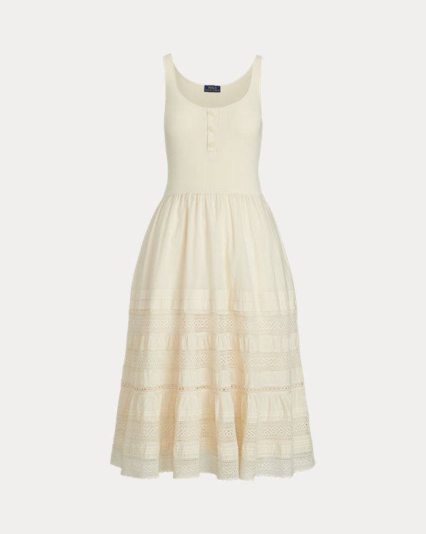 Cotton Sleeveless Henley Dress