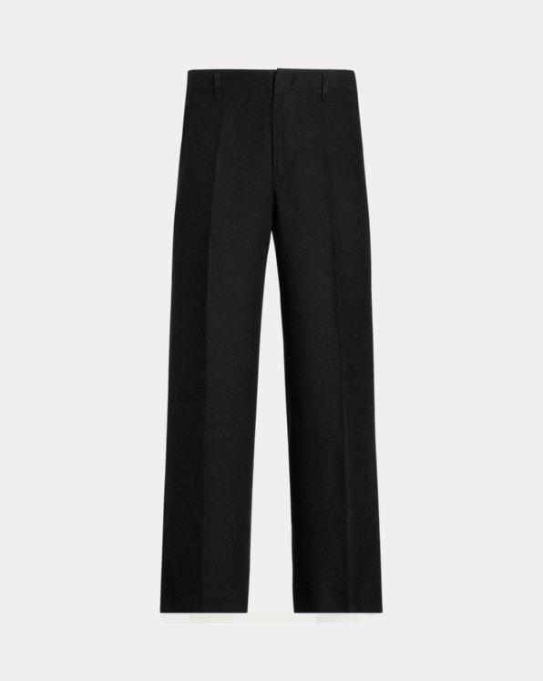 Pantalon jambe large en lin