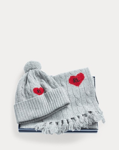 Cable-Knit Hat & Scarf Set
