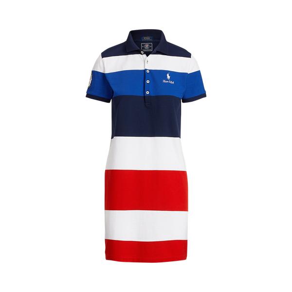폴로 랄프로렌 Polo Ralph Lauren Team USA Polo Dress,Cruise Navy Stripe
