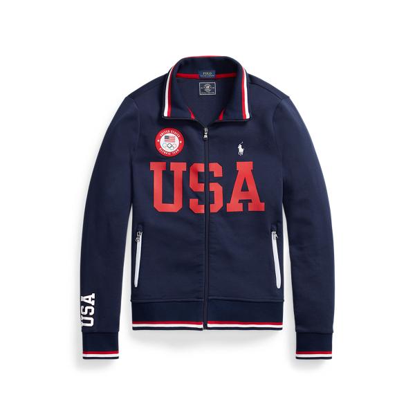 Ralph Lauren Team Usa Track Jacket In Blue