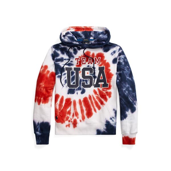 Ralph Lauren Team Usa Tie-dye Terry Hoodie In Multi