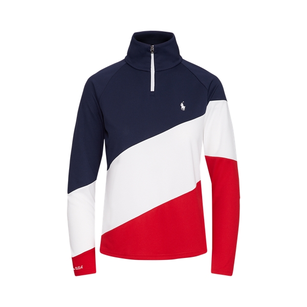 Ralph Lauren Team Usa Quarter-zip Pullover In Multi