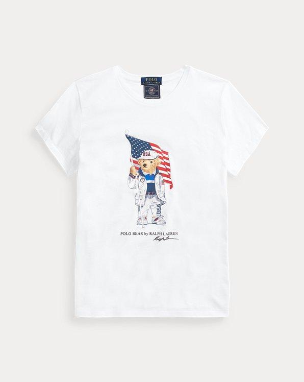 Team USA Polo Bear Tee