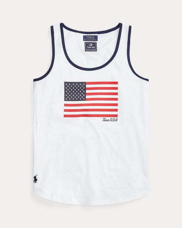 Team USA Flag Jersey Tank Top