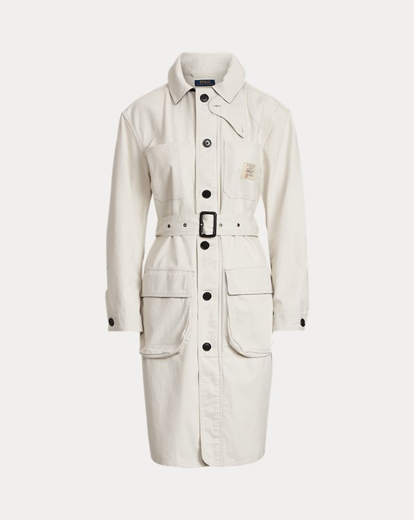 Trench-coat en toile de coton