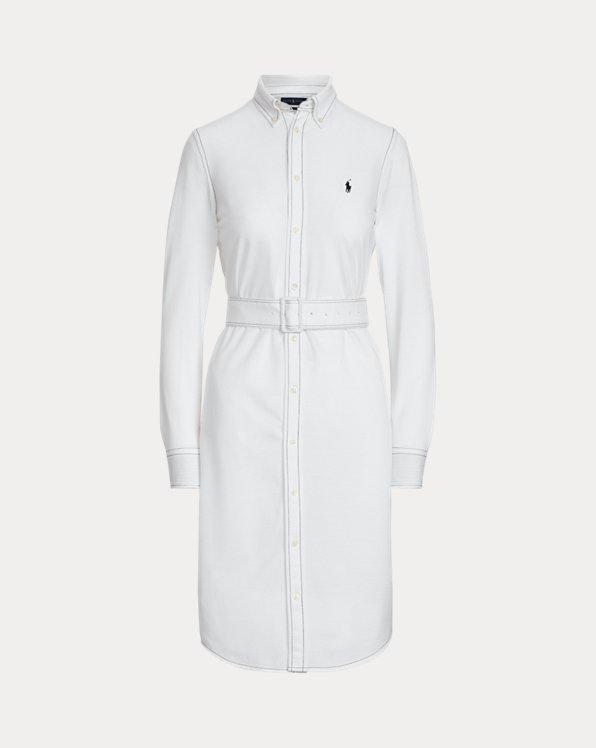 Baumwoll-Hemdkleid mit Gürtel