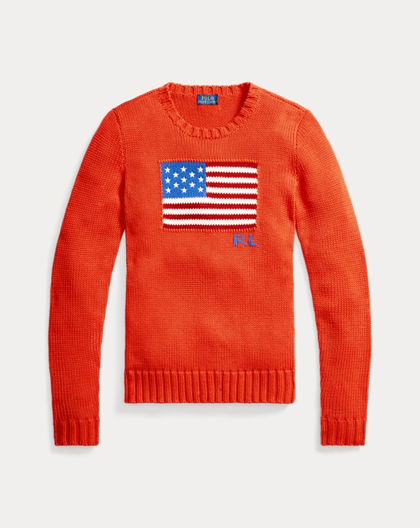 Pull drapeau en coton