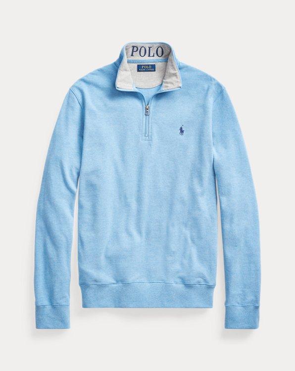 Mesh Quarter-Zip Pullover