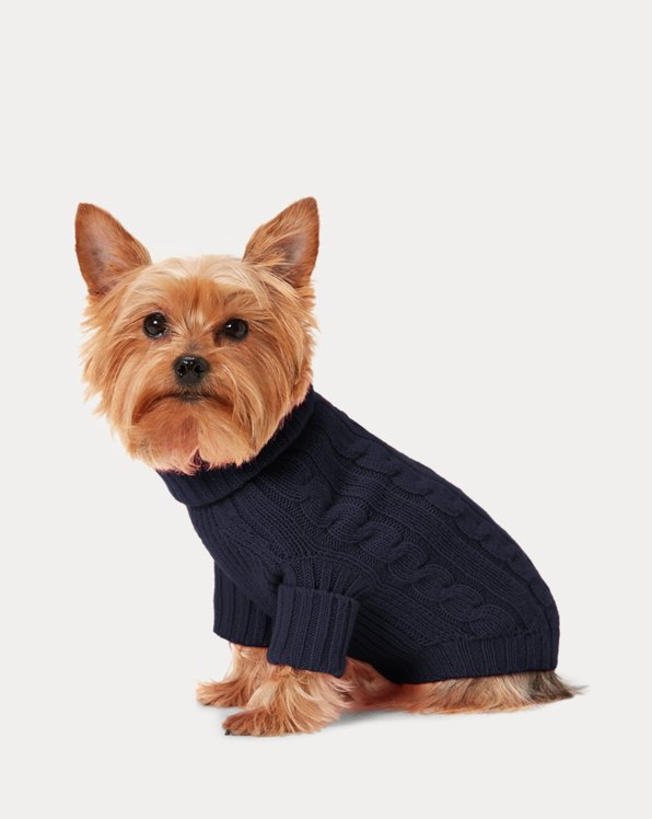 Cable Cashmere Dog Jumper