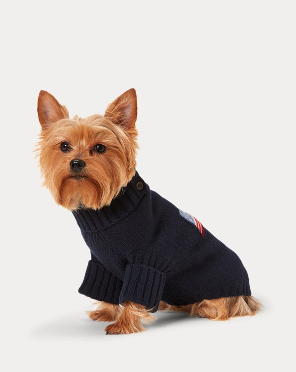 Flag Wool-Blend Dog Jumper
