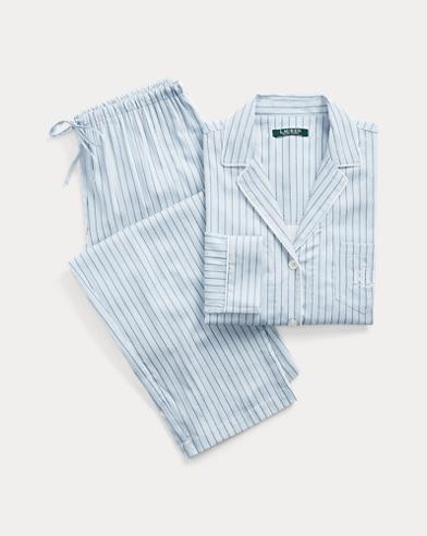Striped Cotton-Blend Sleep Set
