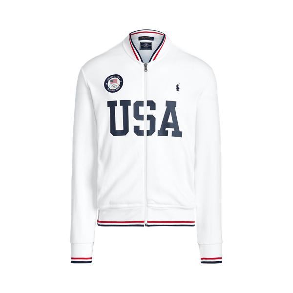 Ralph Lauren Team Usa Track Jacket In White