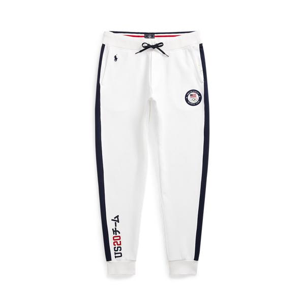 Ralph Lauren Team Usa Jogger Pant In White