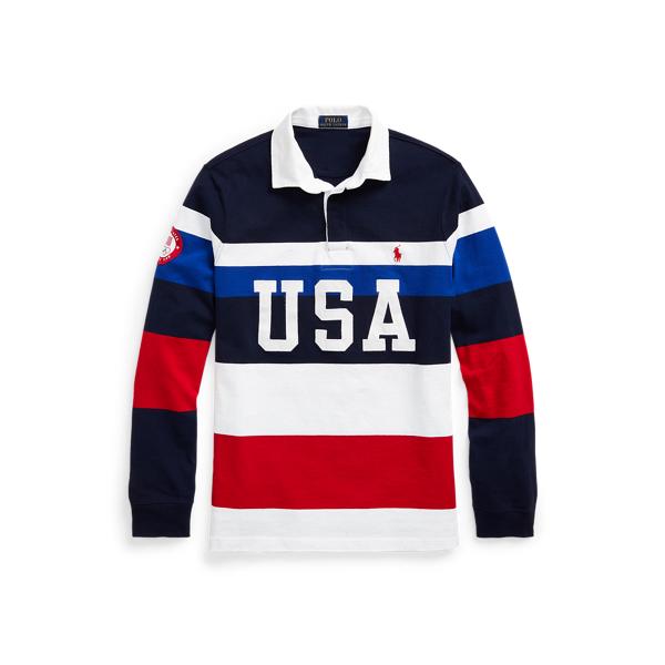 Ralph Lauren Team Usa Rugby Shirt In Multi