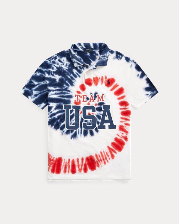 Team USA Tie-Dye Mesh Polo Shirt