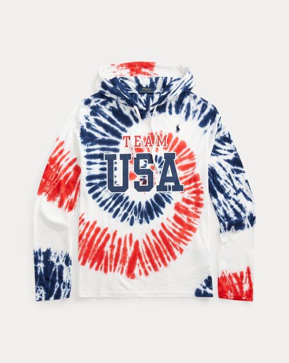 Team USA Tie-Dye Hooded T-Shirt