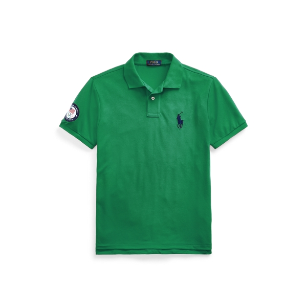 Ralph Lauren Team Usa Earth Polo Shirt In English Green