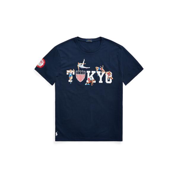 Ralph Lauren Ecofast Pure Team Usa Jersey T-shirt In Cruise Navy