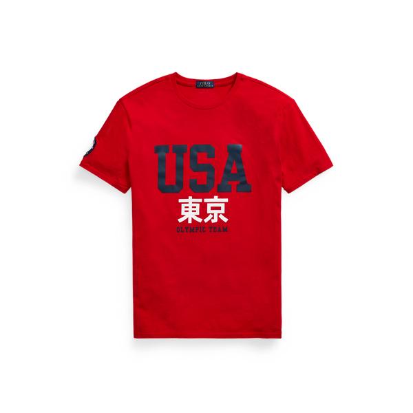 Ralph Lauren Ecofast Pure Team Usa Jersey T-shirt In Rl 2000 Red