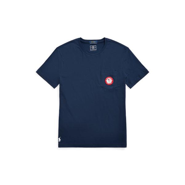 Ralph Lauren Ecofast Pure Team Usa Jersey T-shirt In Blue