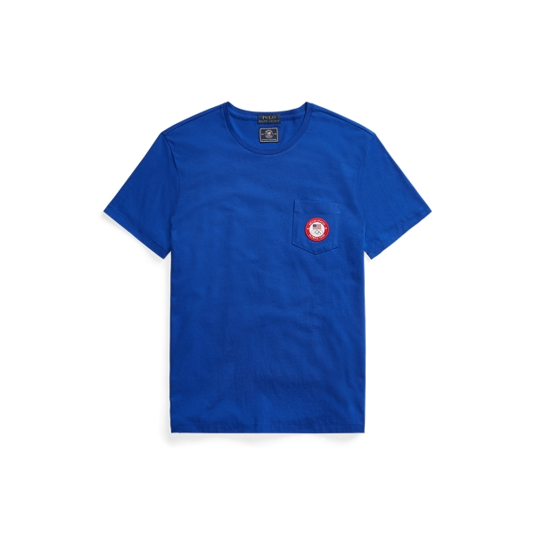 Ralph Lauren Ecofast Pure Team Usa Jersey T-shirt In Rugby Royal