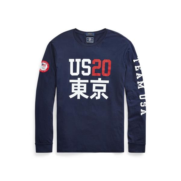 Ralph Lauren Ecofast Pure Team Usa T-shirt In Blue