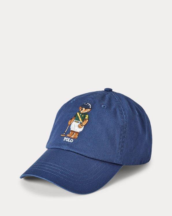 Chino-Baseballkappe mit Polo Bear