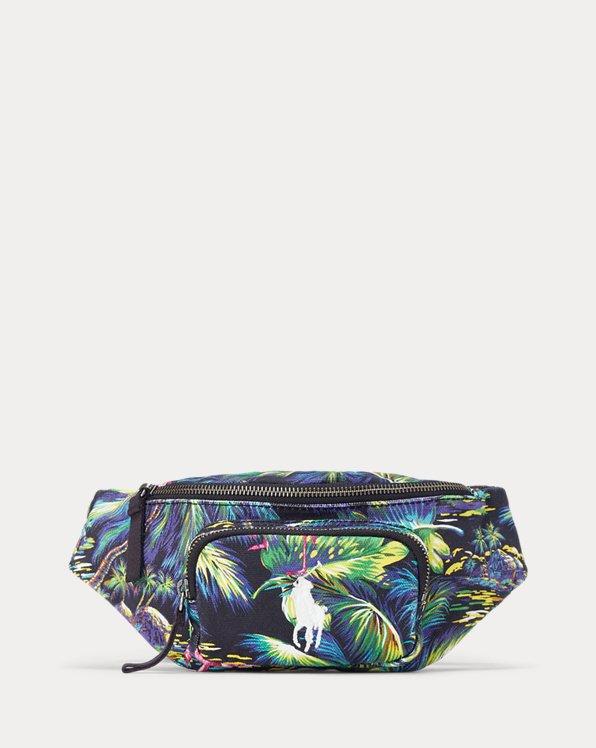 Segeltuchhüfttasche mit Tropenmotiv