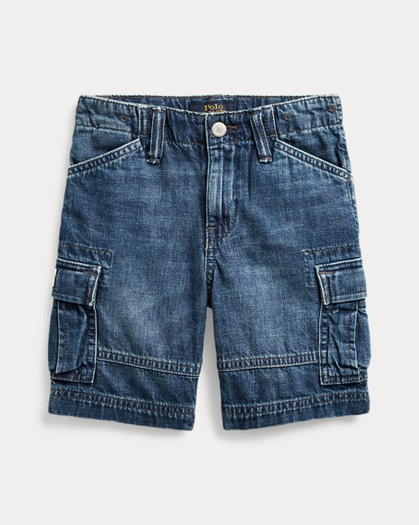 Short cargo en denim