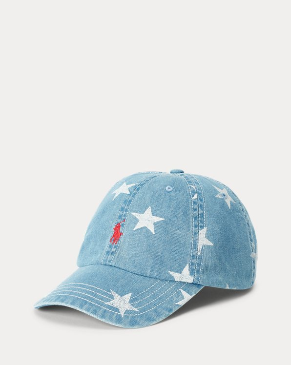 Star Cotton Denim Ball Cap