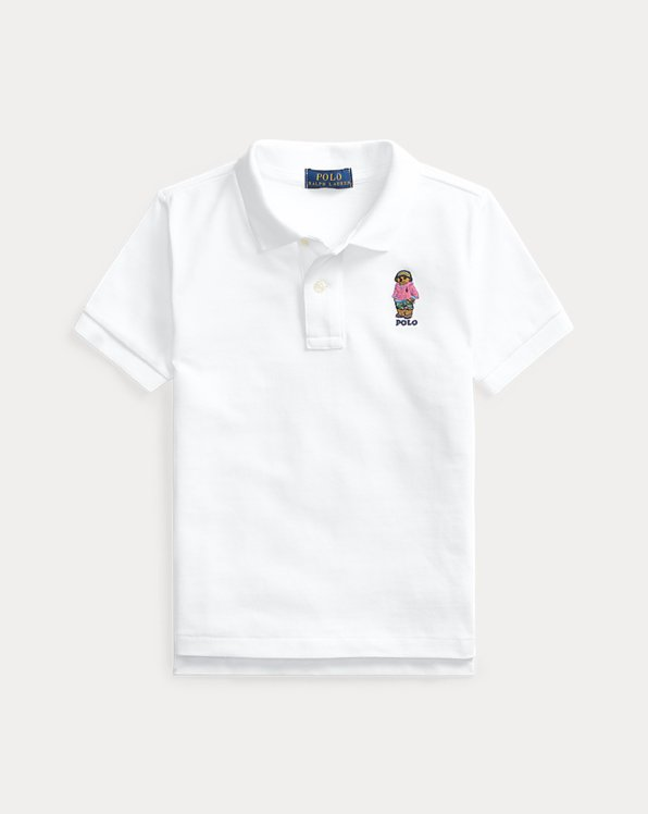 Beach Bear Cotton Mesh Polo