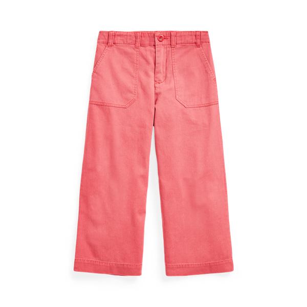 폴로 랄프로렌 여아용 치노 팬츠 Polo Ralph Lauren Cropped Cotton Chino Pant,Nantucket Red