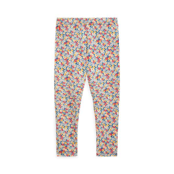 폴로 랄프로렌 여아용 레깅스 Polo Ralph Lauren Floral Stretch Jersey Legging,Blue Multi