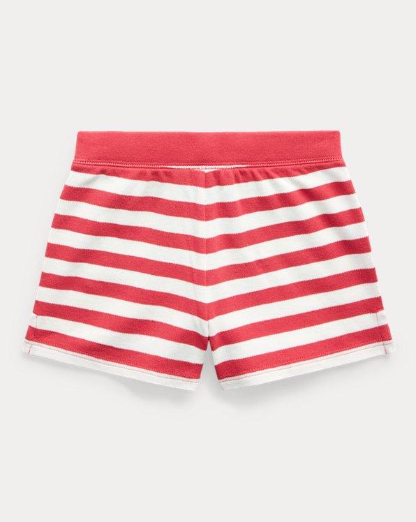 Striped Stretch Mesh Short