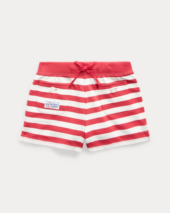 Striped Stretch Mesh Short