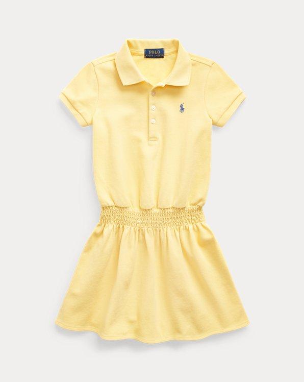 폴로 랄프로렌 여아용 원피스 Polo Ralph Lauren Smocked Mesh Polo Dress,Fall Yellow