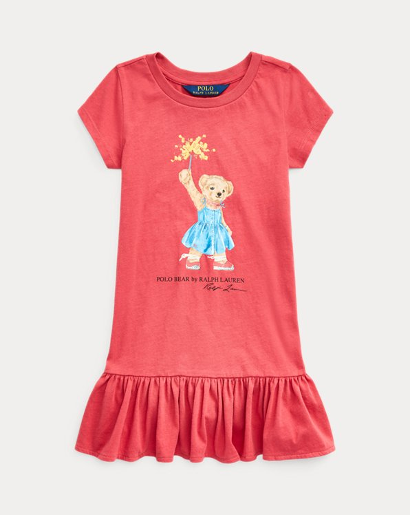 Sparkler Bear Cotton Dress