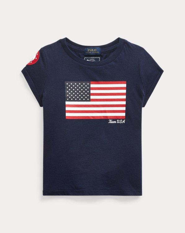 Team USA Flag Cotton Tee