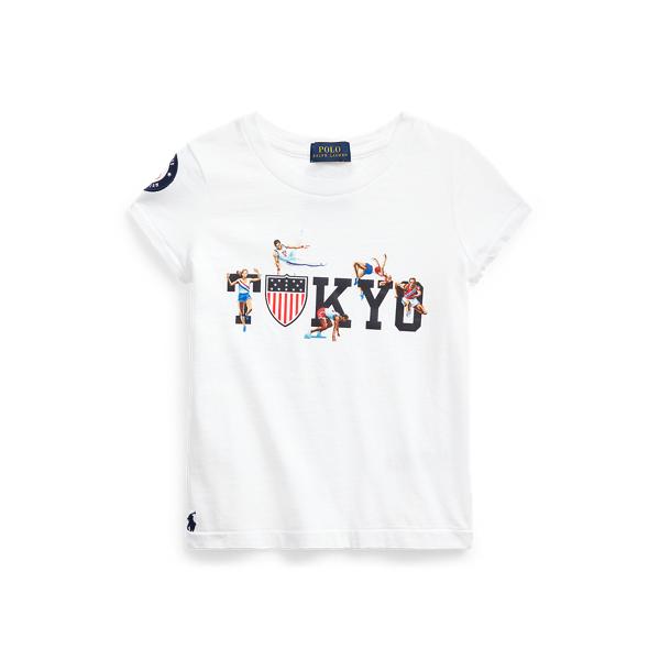 Polo Ralph Lauren Kids' Team Usa Cotton Tee In White